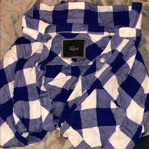 Rails Hunter flannel blue shirt